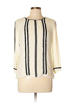 J. Crew 3/4 Sleeve Silk Top Size 10 (Petite)