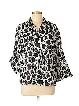 Laura Ashley Long Sleeve Button-Down Shirt Size L (Petite)