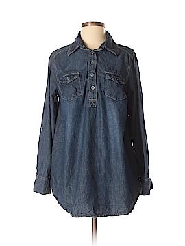 Liz Lange Maternity Long Sleeve Button-Down Shirt Size M (Maternity)