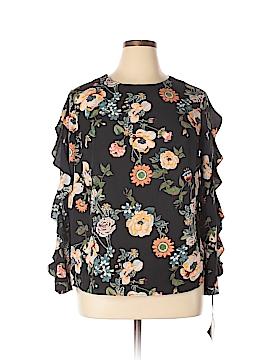 Ava & Viv Long Sleeve Blouse Size 0X (Plus)