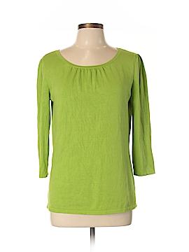 Ann Taylor Factory Long Sleeve Silk Top Size L
