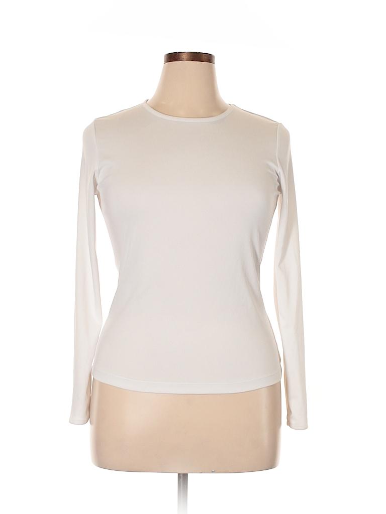 Cuddl Duds Women Long Sleeve T-Shirt Size M
