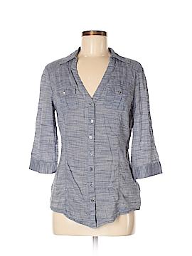 Guess 3/4 Sleeve Button-Down Shirt Size M