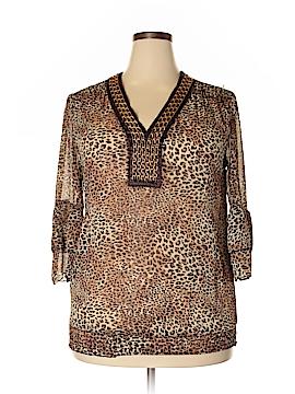 Evolution 3/4 Sleeve Blouse Size 1X (Plus)
