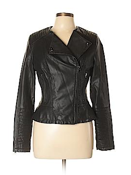 Topshop Faux Leather Jacket Size 8