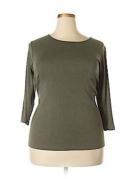 Cj Banks 3/4 Sleeve T-Shirt Size 1X (Plus)