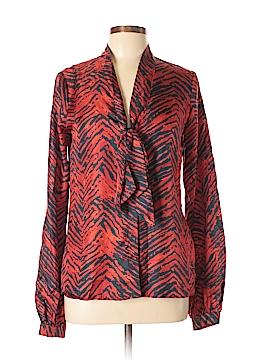Rachel Zoe Long Sleeve Silk Top Size 10