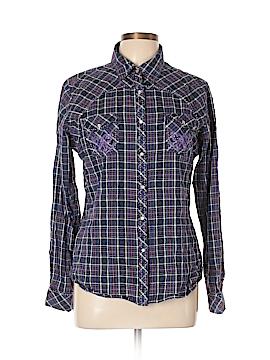 Adiktd Jeans Long Sleeve Button-Down Shirt Size XL