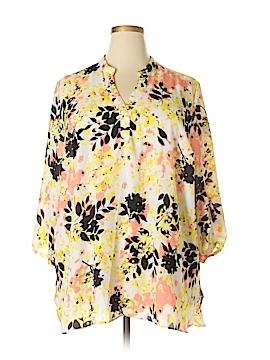 Boutique + 3/4 Sleeve Blouse Size 2X (Plus)