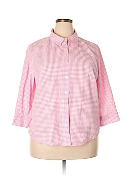IZOD Long Sleeve Button-Down Shirt Size 2X (Plus)