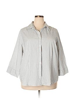 Kim Rogers 3/4 Sleeve Button-Down Shirt Size 3X (Plus)