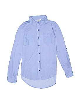 PASSPORTS Long Sleeve Button-Down Shirt Size S