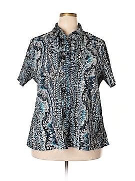 Bay Studio Short Sleeve Blouse Size 1X (Plus)