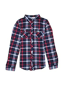 Bella D Long Sleeve Button-Down Shirt Size L