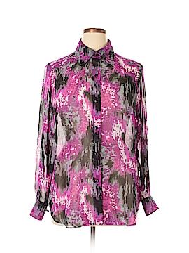 Kasper Long Sleeve Blouse Size 1X (Plus)