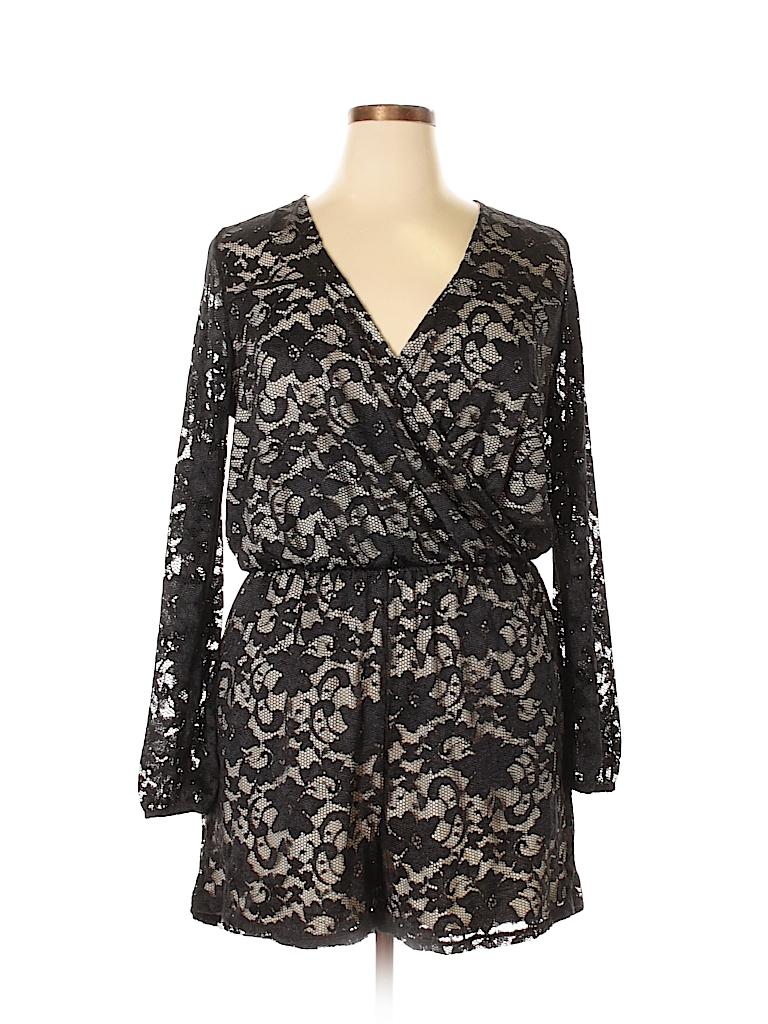 b87a22e73ac Charlotte Russe Lace Black Romper Size 1X (Plus) - 63% off
