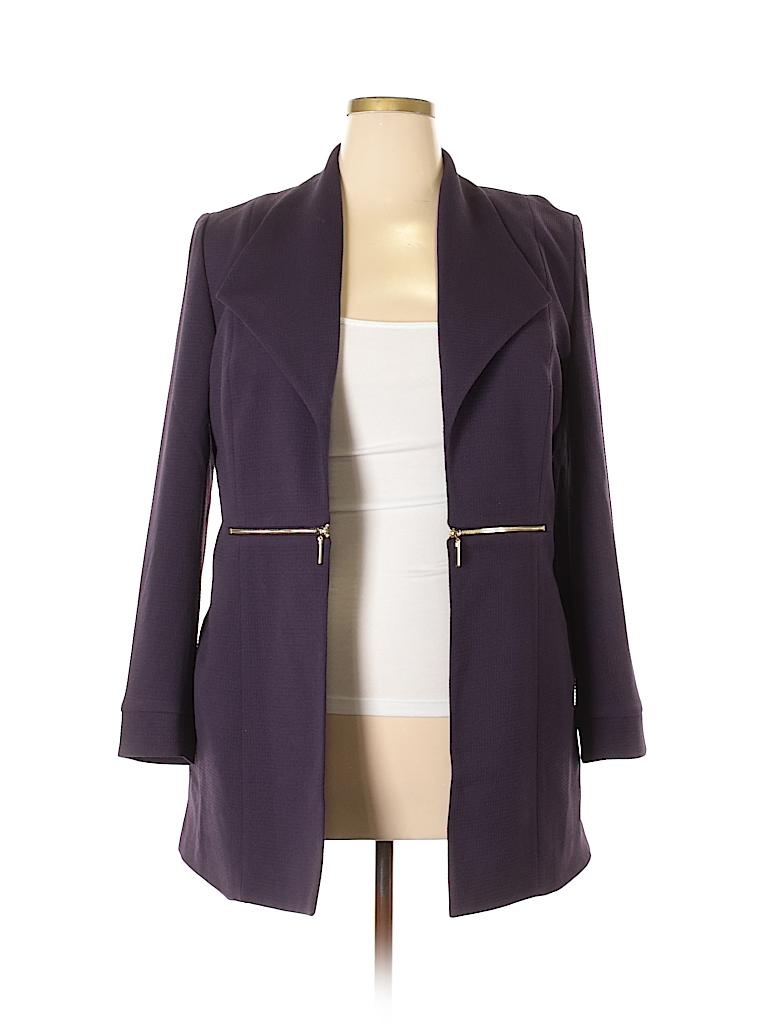 c976985edf Black Label by Evan Picone Solid Dark Purple Jacket Size 14 - 66 ...