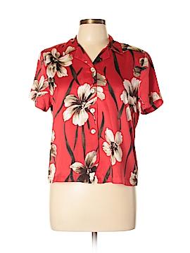 Alfred Dunner Short Sleeve Button-Down Shirt Size 10 (Petite)