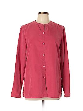 Lizsport Long Sleeve Button-Down Shirt Size M