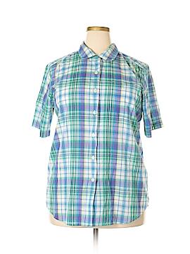 Cabin Creek Short Sleeve Button-Down Shirt Size 18 (Plus)