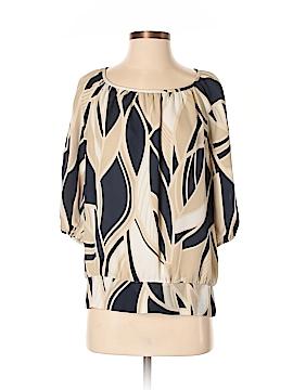 AK Anne Klein 3/4 Sleeve Silk Top Size S (Petite)