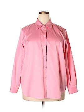 Talbots Long Sleeve Button-Down Shirt Size 18 (Plus)
