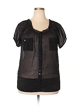 Caren Sport Short Sleeve Blouse Size 1X (Plus)