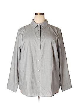 Talbots Long Sleeve Button-Down Shirt Size 24w (Plus)