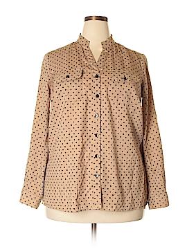 Element Long Sleeve Button-Down Shirt Size 1X (Plus)