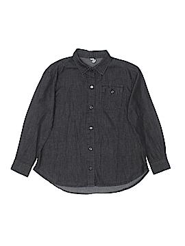 Fab Kids Long Sleeve Button-Down Shirt Size 8 - 10