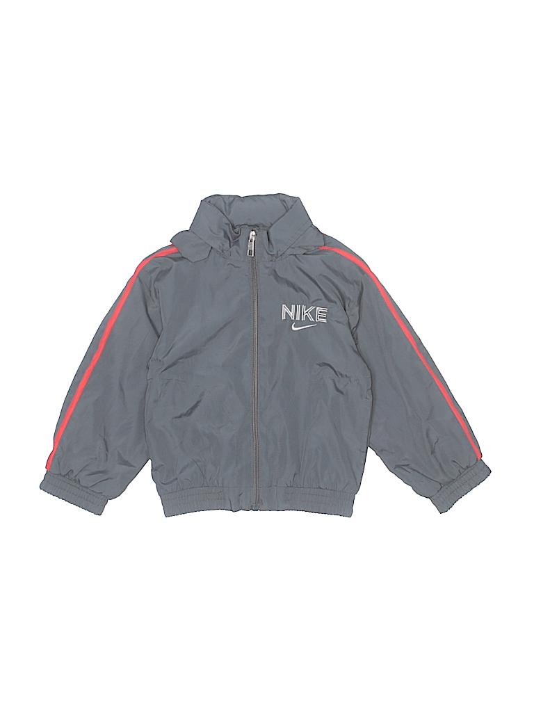 983aef700850 Nike 100% Nylon Stripes Gray Track Jacket Size 2T - 88% off