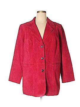 D&Co. Leather Jacket Size 1X (Plus)