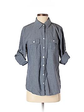 Croft & Barrow 3/4 Sleeve Button-Down Shirt Size S