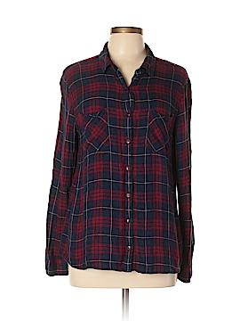 Caslon Long Sleeve Button-Down Shirt Size L (Petite)