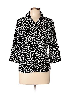 Covington 3/4 Sleeve Button-Down Shirt Size M