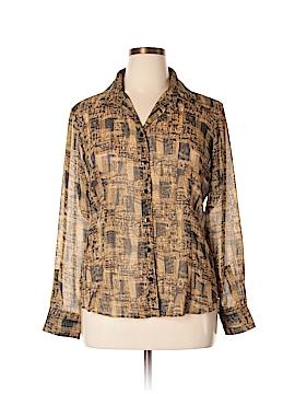 Liz & Co Long Sleeve Blouse Size XL