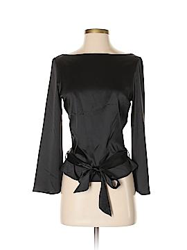 Bisou Bisou Long Sleeve Silk Top Size S