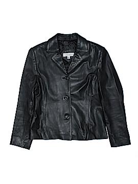 Valerie Stevens Leather Jacket Size 10