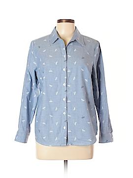 Croft & Barrow Long Sleeve Button-Down Shirt Size L (Petite)