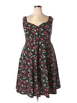 Cherry Velvet Casual Dress Size 0X (Plus)