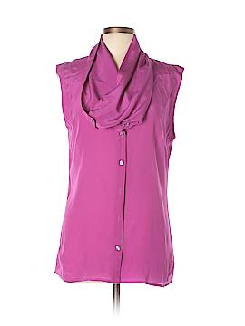Fei Short Sleeve Silk Top Size 12