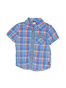 Charlie Rocket Short Sleeve Button-Down Shirt Size 3T