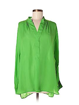 Polo by Ralph Lauren Long Sleeve Silk Top Size M