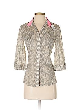 Tahari 3/4 Sleeve Button-Down Shirt Size XS