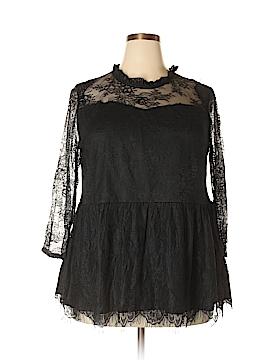 Suzanne Betro 3/4 Sleeve Blouse Size 2X (Plus)