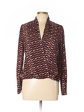 Waverly Grey Long Sleeve Blouse Size 6