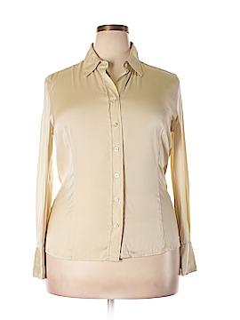 Ann Taylor Long Sleeve Silk Top Size 14