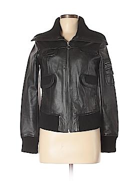 MNG Leather Jacket Size XS