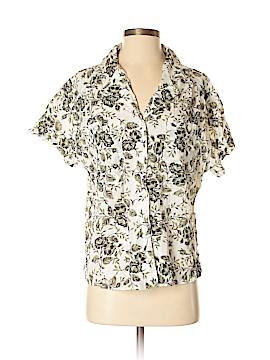Classic Elements Short Sleeve Button-Down Shirt Size M