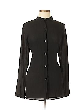 Finity Long Sleeve Silk Top Size L